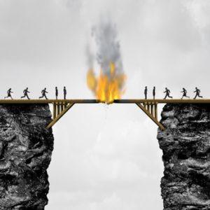 Burning Bridges Concept