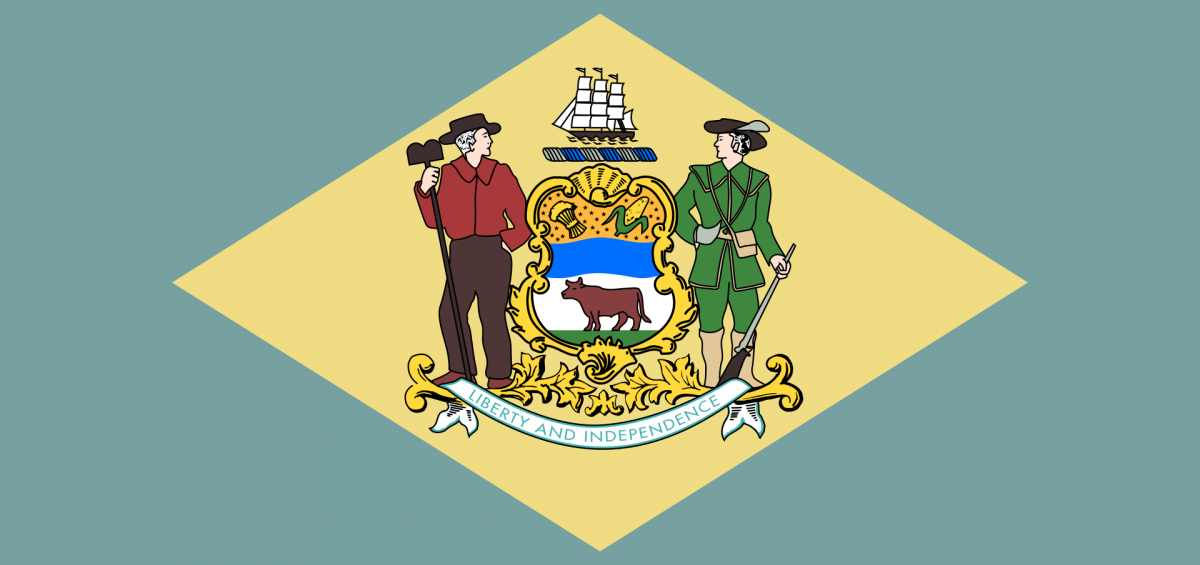 The state flag of Delaware