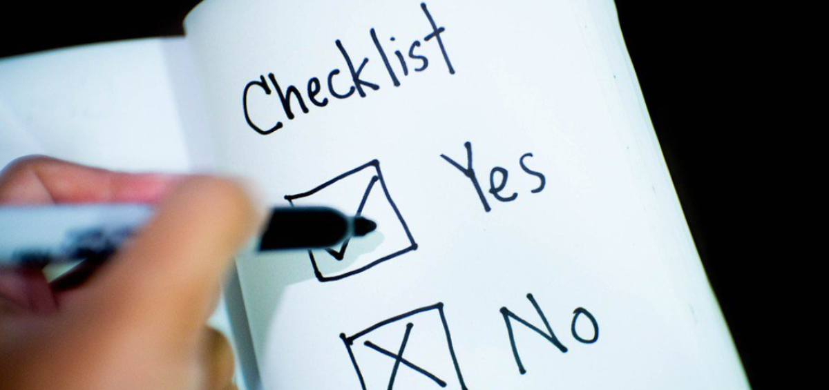 Yes and no checklist
