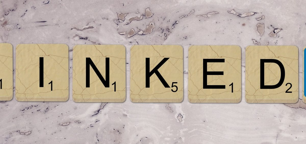 LinkedIn spelled out using scrabble tiles